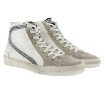 Slide Sneakers White/Silver