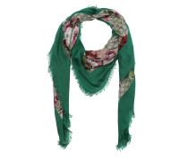 Modal Silk Blooms Print Shawl Green/Multi Schal grün