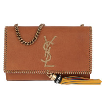 Monogramme Kate Shoulder Bag Stitched Leather Brown Tasche