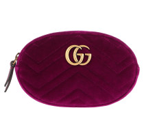 Gürteltasche GG Marmont Matelassé Belt Bag Velvet Fucsia lila