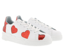 Sneakers Big Red Hearts White Sneakers