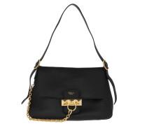 Hobo Bag Keeley Shoulder Bag Leather Black schwarz