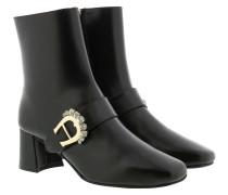 Boots Grazia Block Heel Ankle Boot Black