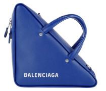 Triangle Shoulder Bag Leather Blue Tasche