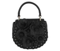 Mackie Flower Satchel Bag Black