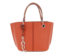 Joy Bag Small Calf Leather Mattone/Brandy Tote