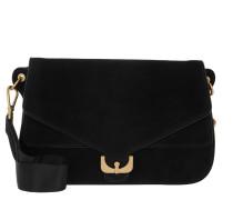 Ambrine Suede Crossbody Bag Noir Tasche