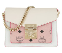 Umhängetasche Patricia Visetos Leather Block Crossbody Mini Soft Pink/Shell rosa