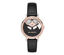 KL2227 Camille Karl Appliqué Watch Black Uhr