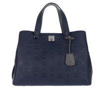 Tote Leather Tote Large Navy Blue marine