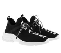 Sneakers Knit Sneakers Black/White schwarz