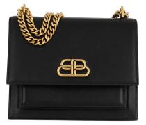 Umhängetasche Sharp S Satchel Chain Bag Leather Black schwarz