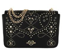 Studded Shoulder Bag Black Tasche
