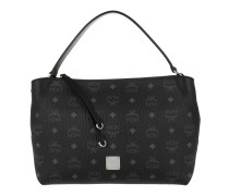 Klara Visetos Shoulder Medium Black Tote