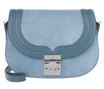 Trisha Suede Small Shoulder Bag Blue