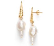 Ohrringe Turret Shell Baroque Pearl Earring Gold