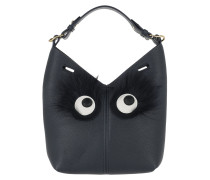 Build a Bag Mini Furry Eyes Marine Beuteltasche