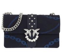 Love Jacquard Tracolla Crossbody Bag Blu Iride Tasche