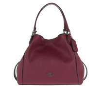 38b9a7dbd0993 Tote Polished Leather Edie 28 Shoulder Bag Dark Berry lila