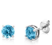 Ohrringe 14KT Blue Topaz Earring White Gold