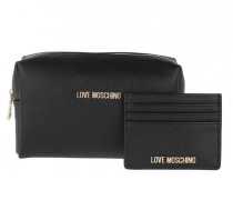 Necessaire Wallet And Cosmetic Bag Set Black