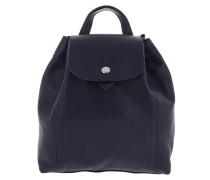 Rucksack Le Pliage Leather Backpack Navy blau