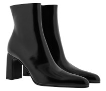 Boots High Heeled Ankle Boot Leather Black schwarz