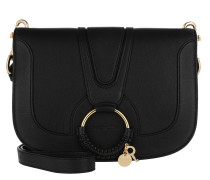Umhängetasche Hana Crossbody Leather Black schwarz