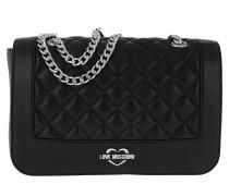 Quilted Shoulder Bag Black/Silver Tasche