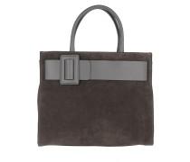 Suede Handle Bag Grey Tote