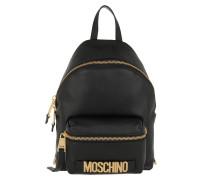 Logo Zip Backpack Black Rucksack