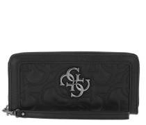 Portemonnaie New Wave Large Zip Around Wallet Black schwarz