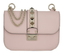 Rockstud Lock Shoulder Bag Small Water Rose Tasche