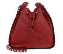 Rockstud Bucket Bag Rosso Beuteltasche