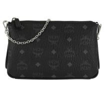 Millie Visetos Crossbody Bag Medium Black Tasche