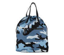 Rockstud Backpack Camouflage Nylon Black/Blue Rucksack