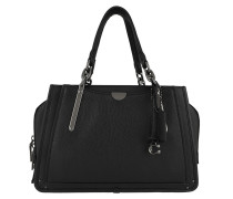 Tote Mixed Leather With Pebble Dreamer Black schwarz