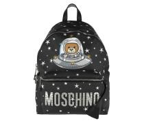Astronaut Bear Backpack Black Rucksack
