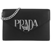 Logo Crossbody Bag Smooth Leather Black Tasche