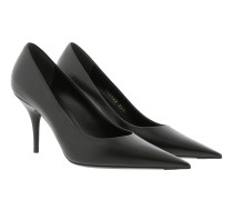 Knife Pumps Leather Black Pumps