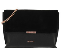 Kamiila Bar Detail Crossbod Bag Black Satchel Bag
