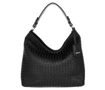 Hobo Bag Piuma Woven Black/Nickel