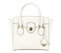 Millbrook Satchel Bag Pebbled Leather Vanilla Tote