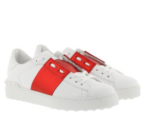 Sneakers Bicolor Rockstud Sneaker White Red