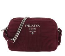 07e887d916710 Umhängetasche Diagramme Crossbody Bag Suede Garnet rot. Prada