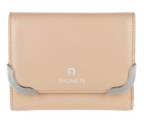 Amber Leather Wallet Sand Portemonnaie