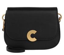 Craquante Smooth Logo Crossbody Bag Noir Tasche