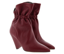 Boots Isabel Marant Ankle Boots Leather Burgundy rot