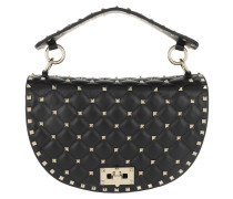 Satchel Bag Rockstud Half Round Spike Crossbody Bag Black schwarz