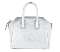 Antigona Mini Bag Metallic Silver Tote